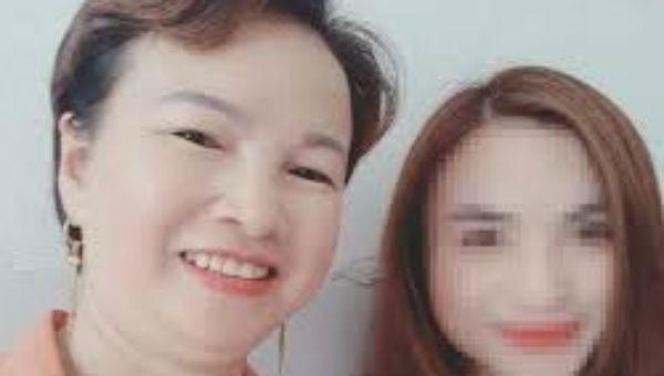 Trần Thị Hiền và con gái.