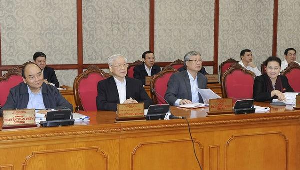 Tổng Bí thư, Chủ tịch nước Nguyễn Phú Trọng phát biểu chỉ đạo tại buổi làm việc với Ban Thường vụ Tỉnh ủy Thừa Thiên Huế.