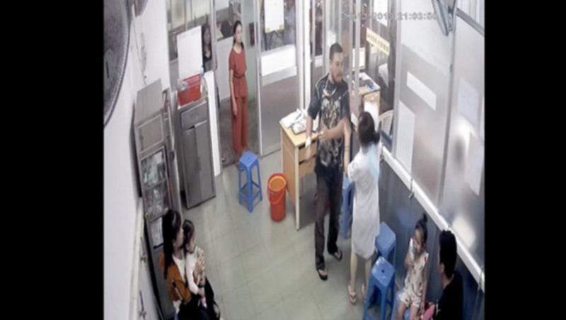 Hình ảnh ghi lại qua camera tại khoa Cấp cứu BV Nhi Đồng 1.