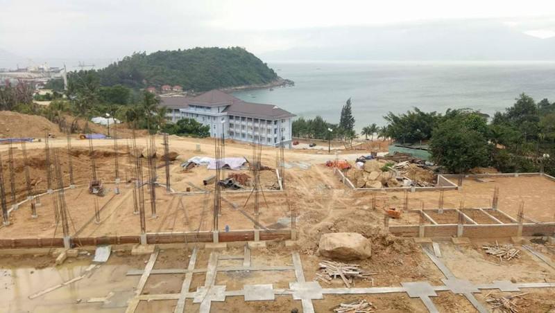 Một công trình xây dựng sai phạm tại Sơn Trà (Đà Nẵng).