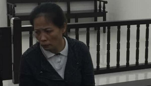 Bị cáo Chu Thị Việt Hà tại tòa