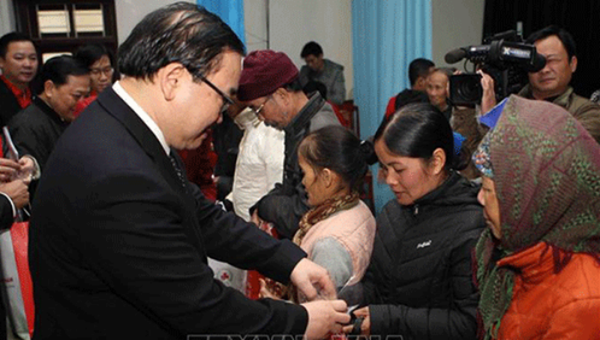 Hà Nội: Gần 380 tỷ đồng tặng quà các đối tượng chính sách dịp Tết