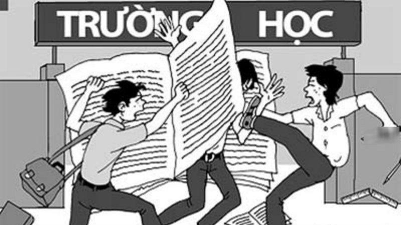 Bạo lực học đường - người lớn không vô can. Ảnh minh họa