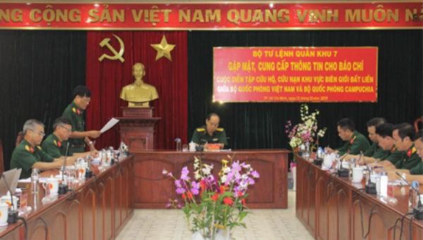Việt Nam - Campuchia sắp diễn tập cứu hộ, cứu nạn khu vực biên giới