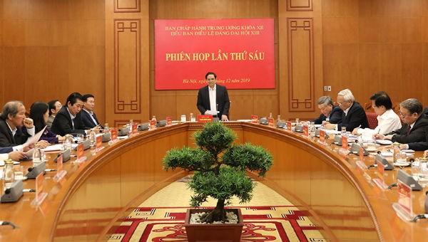 Tiểu ban Điều lệ Đảng Đại hội XIII họp phiên thứ 6
