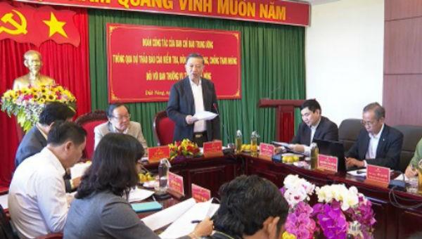 Đại tướng Tô Lâm phát biểu tại buổi làm việc