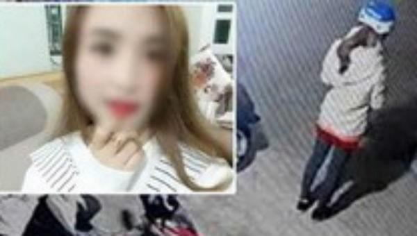 Hình ảnh nữ sinh giao gà trước khi bị bắt.