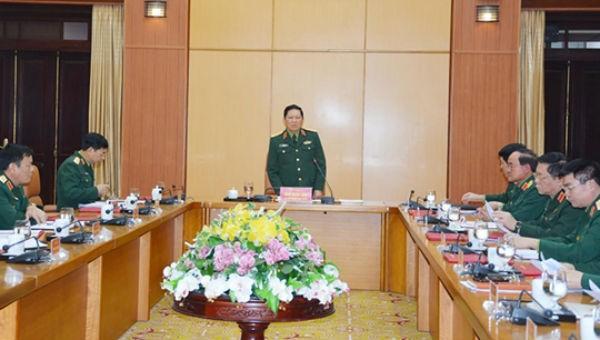 Đại tướng Ngô Xuân Lịch, chủ trì hội nghị.