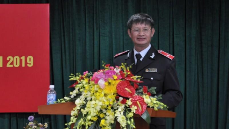 Chánh Thanh tra Bộ Tài chính Trần Văn Vượng báo cáo kết quả thực hiện năm 2019