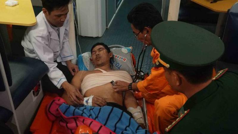 Thuyền viên bị tai nạn lao động trên biển được cứu sống