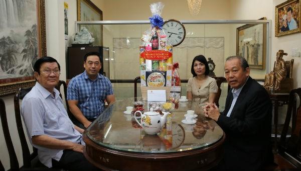 Phó Thủ tướng Thường trực Chính phủ Trương Hòa Bình thăm, chúc Tết nguyên Chủ tịch nước Trương Tấn Sang