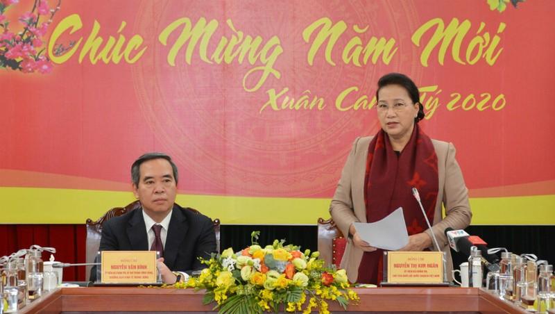 Chủ tịch Quốc hội Nguyễn Thị Kim Ngân đã tới thăm và làm việc với Ban Kinh tế Trung ương