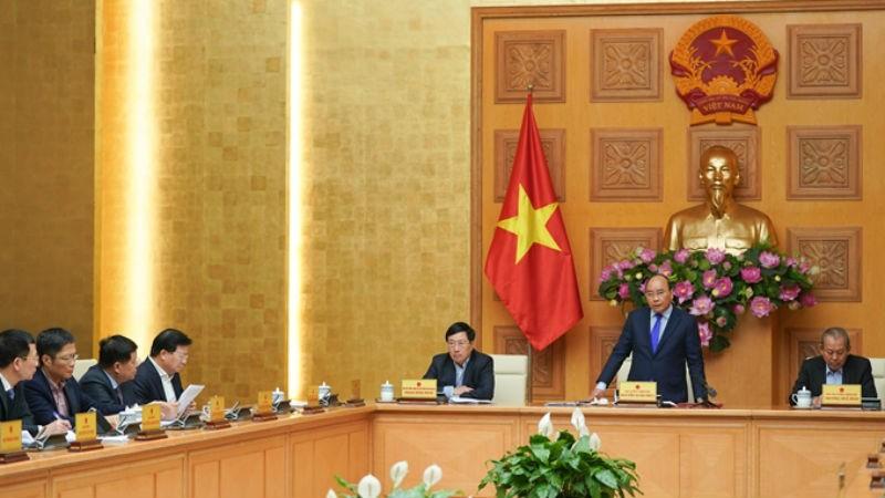 Thủ tướng Nguyễn Xuân Phúc chủ trì cuộc họp của Thường trực Chính phủ ngày 30/1/2020.