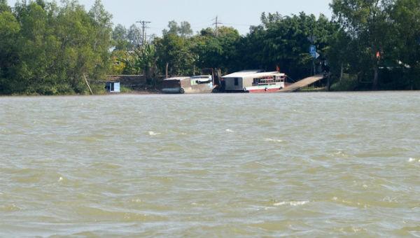 Đoạn sông nơi anh Thảo mất tích.
