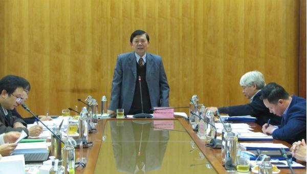 Phó Chủ tịch UBTƯ MTTQ Việt Nam Nguyễn Hữu Dũng phát biểu tại Hội nghị