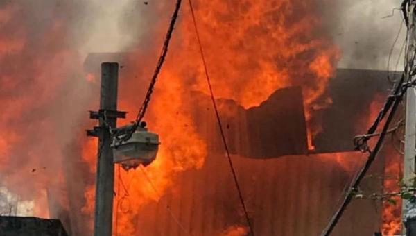 Hình ảnh vụ cháy.