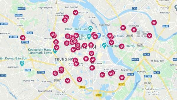 Cẩn trọng khi chia sẻ Bản đồ dịch Covid-19 tại Hà Nội trên Google Maps