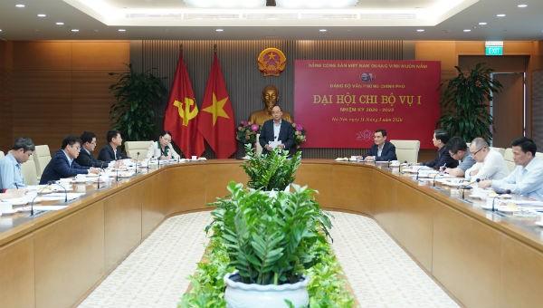 Thủ tướng Nguyễn Nguyễn Xuân Phúc dự và phát biểu tại Đại hội Chi bộ nhiệm kỳ 2020-2022 Chi bộ Vụ I