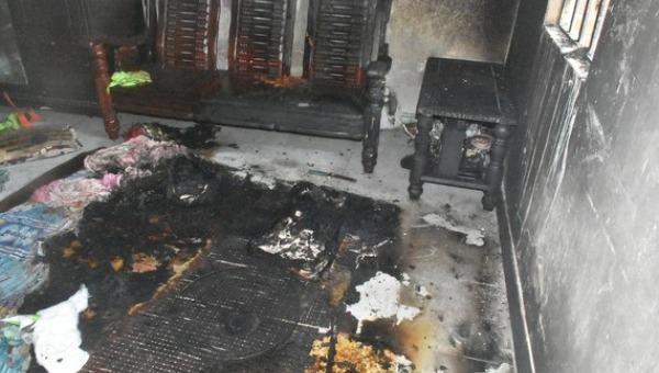 Hiện trường vụ cháy. Ảnh SGGP.