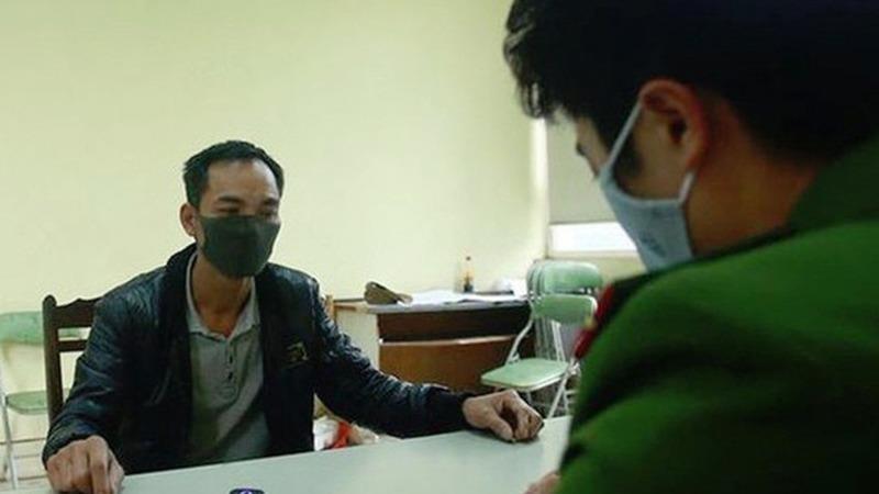 Đối tượng Phạm Văn Hùng tại cơ quan điều tra.