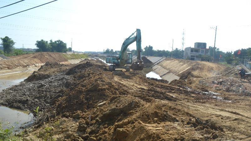 Dự án tái định cư nằm trong hệ thống kênh thoát lũ Hòa Liên.
