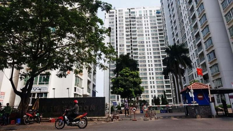 Chung cư New Saigon, nơi ông Bùi Quang Tín tử vong. Ảnh Thanh niên.