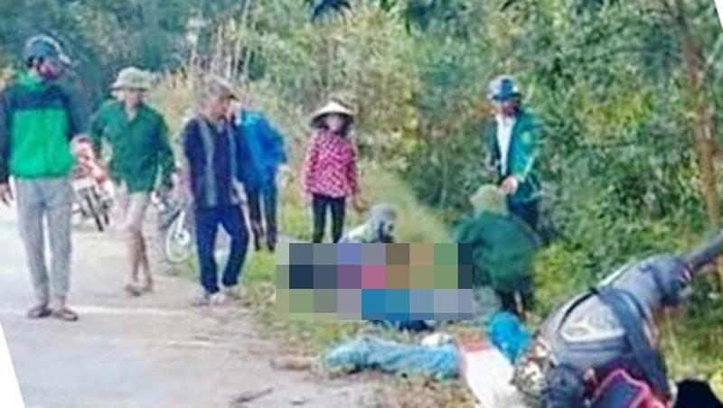 Hiện trường vụ tai nạn khiến 2 nữ sinh tử vong.