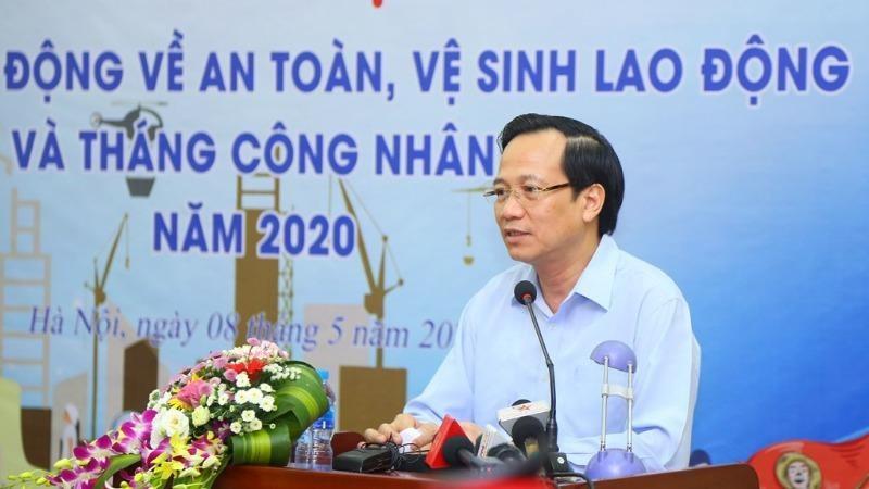 ộ trưởng Bộ LĐTB&XH Đào Ngọc Dung phát động Tháng Hành động ATVSLĐ năm 2020