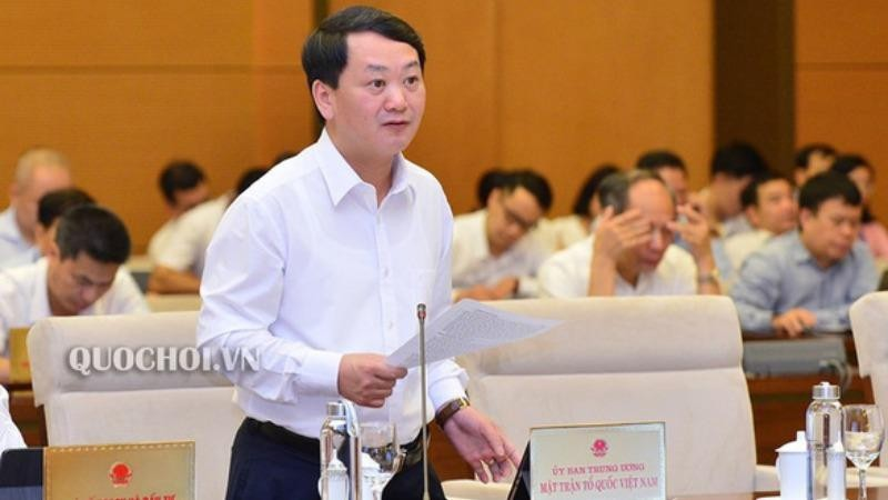 Phó chủ tịch kiêm Tổng thư ký MTTQ Việt Nam Hầu A Lềnh - Ảnh: Quochoi.vn