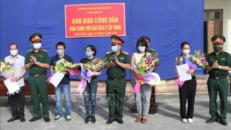81 công dân hoàn thành thời gian cách ly tại Ninh Bình