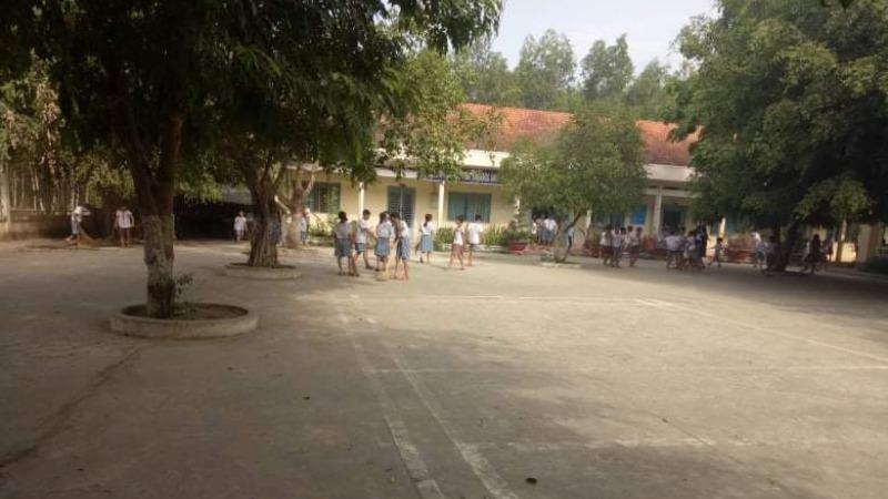 Trường học nơi xảy ra sự việc. Ảnh Báo Long An.