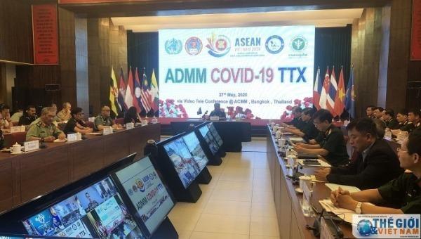 Quân y các nước ASEAN diễn tập phòng, chống Covid-19