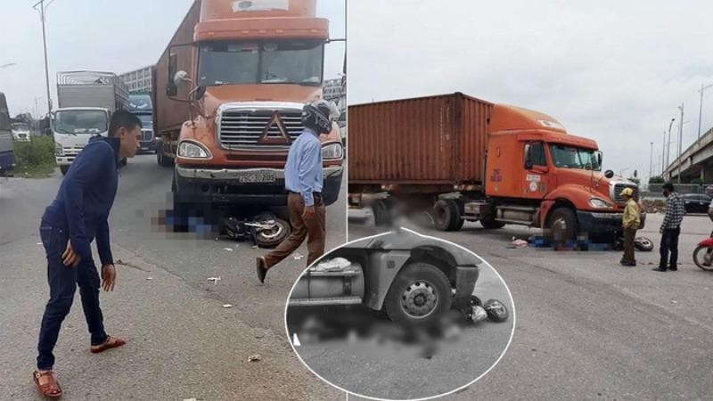 Va chạm với container, hai nữ sinh tử vong