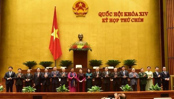 Các thành viên Hội đồng Bầu cử quốc gia.
