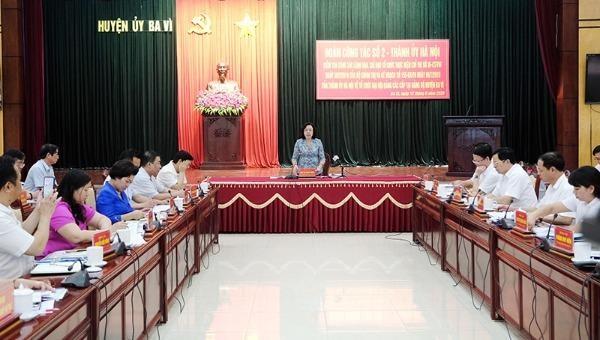 Phó Bí thư thường trực thành ủy Hà Nội: Tiếp tục quan tâm, giải quyết tốt đơn thư liên quan đến nhân sự đại hội