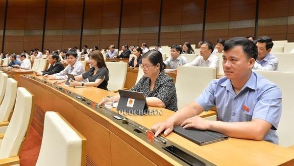 Các đại biểu Quốc hội biểu quyết