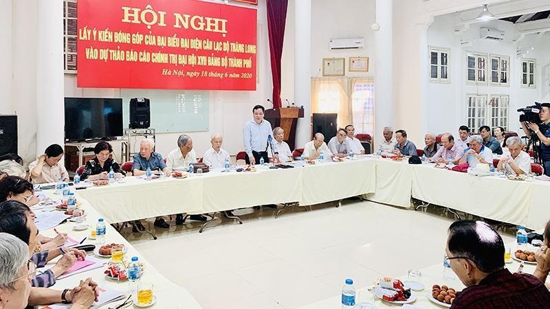 Hà Nội: Đóng góp ý kiến cho Dự thảo Văn kiện Đại hội XVII Đảng bộ