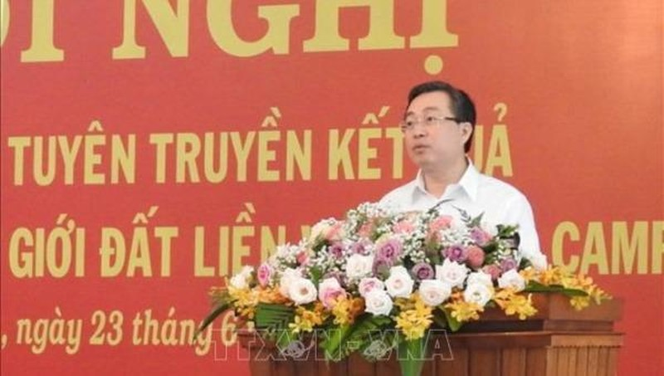 Ông Bùi Trường Giang, Phó Trưởng Ban Tuyên giáo Trung ương phát biểu tại hội nghị.