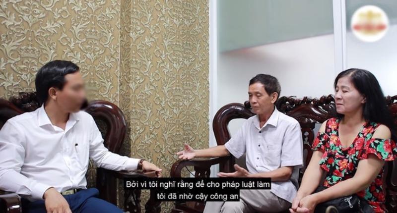 Đoạn clip ghi nhận việc bố mẹ Mai Phương làm việc với luật sư để giành quyền nuôi cháu từ Phùng Ngọc Huy