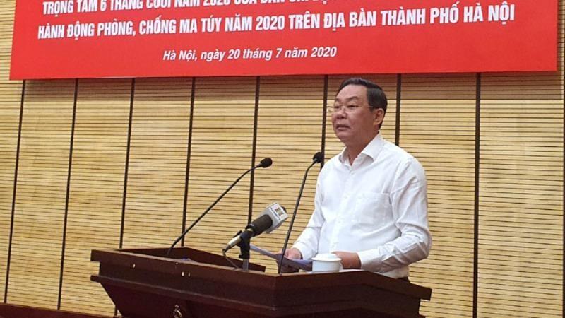 Phó Chủ tịch UBND TP Lê Hồng Sơn phát biểu tại hội nghị.
