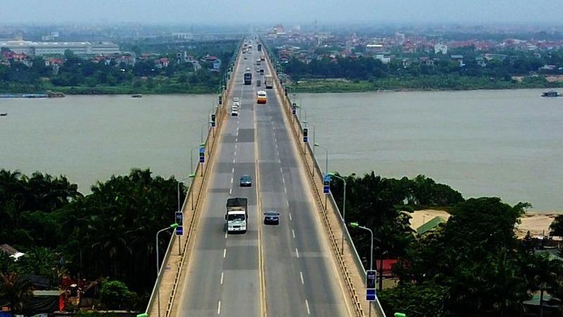 Từ 6h ngày 28/7, cấm các phương tiện lưu thông tại tầng 2 cầu Thăng Long.