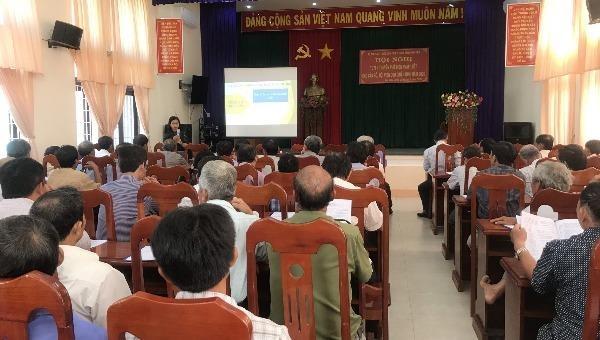 Sở Tư pháp Phú Yên tổ chức tuyên truyền phổ biến pháp luật cho cán bộ, hội viên Cựu chiến binh.