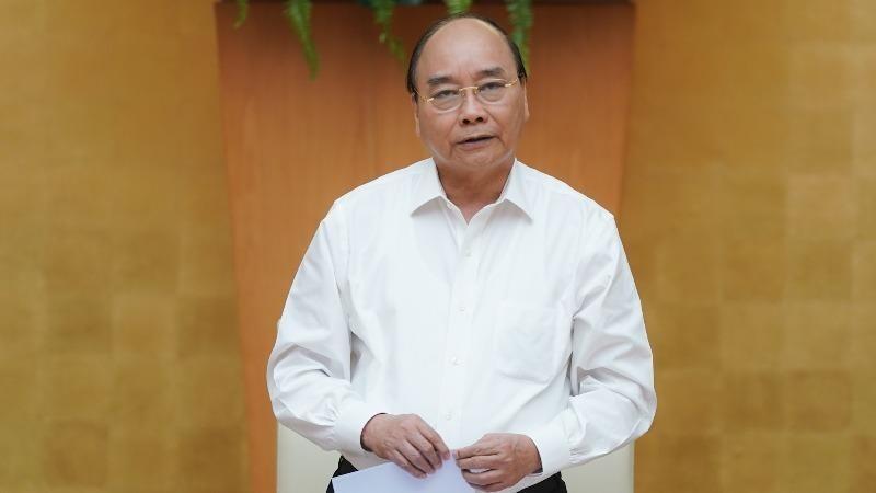 Thủ tướng Nguyễn Xuân Phúc phát biểu tại cuộc làm việc.