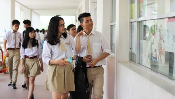 Học sinh trường THPT Phan Huy Chú- Đống Đa. Ảnh Trường THPT Phan Huy Chú- Đống Đa.