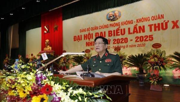 Đại tướng Ngô Xuân Lịch, Bộ trưởng Bộ Quốc phòng phát biểu chỉ đạo đại hội. Ảnh:TXVN.