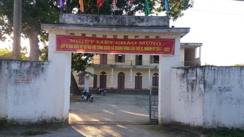 Trụ sở UBND xã Quảng Hùng.