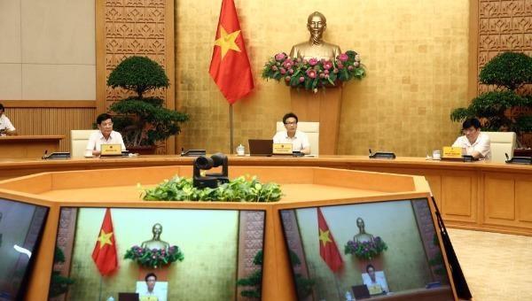 Quang cảnh cuộc họp Thường trực Ban Chỉ đạo quốc gia phòng chống dịch Covid-19 ngày 9/8.