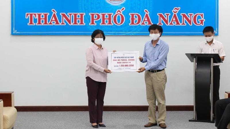 Tập đoàn EVN ủng hộ tiền chống dịch cho Đà Nẵng