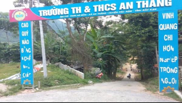 Trường Tiểu học và THCS xã An Thắng, nơi phát hiện sự việc.