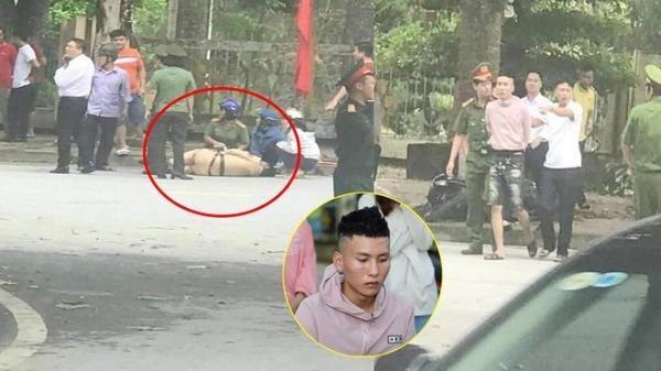Nguyễn Bá Hiếu điều khiển xe máy tông CSGT bị thương nặng. Ảnh Thanh Niên.